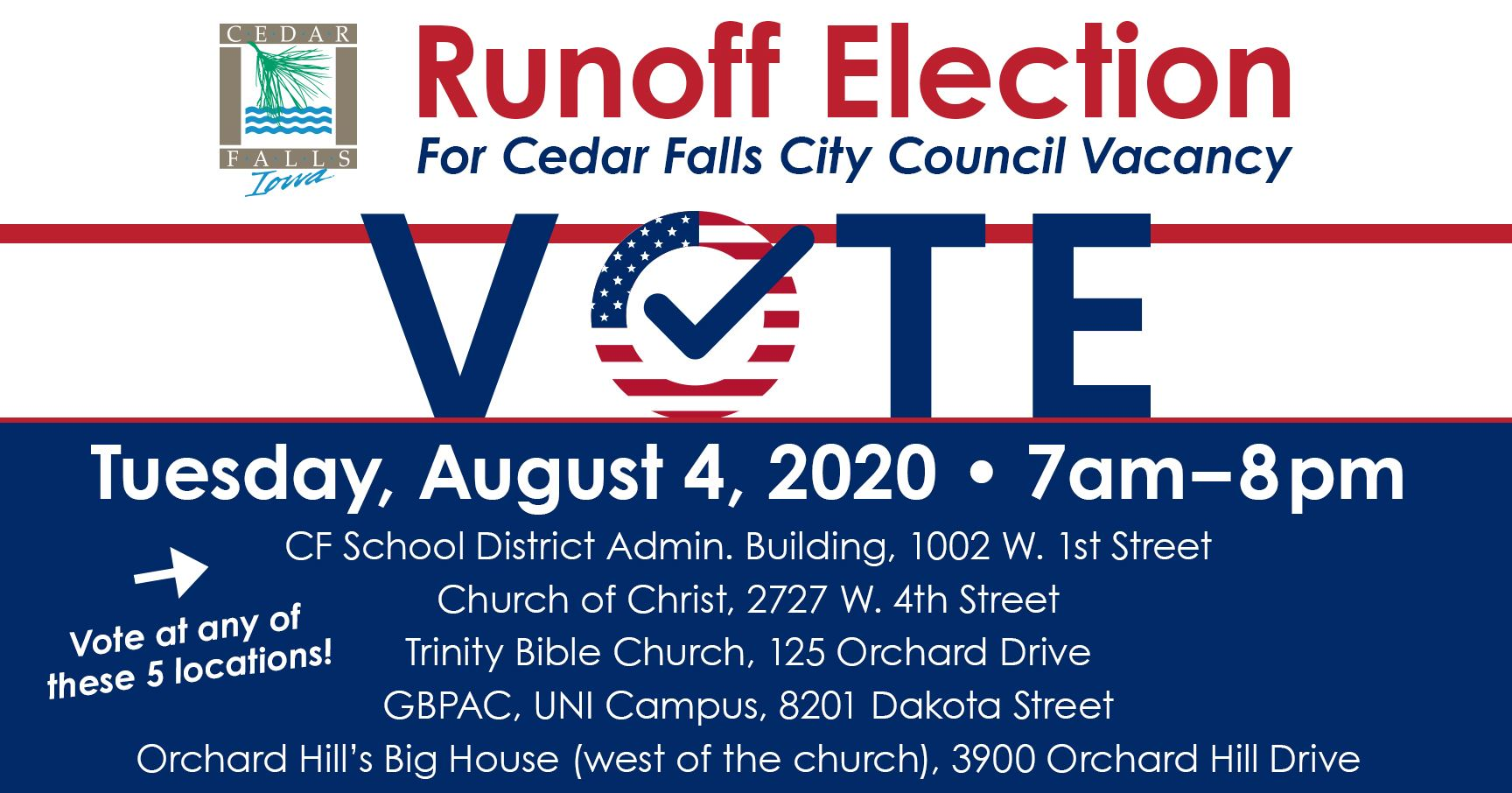 Runoff Election Aug 4 2020 with locations FBnew