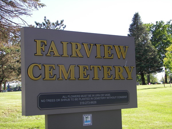 Fairview Cemetery Sign
