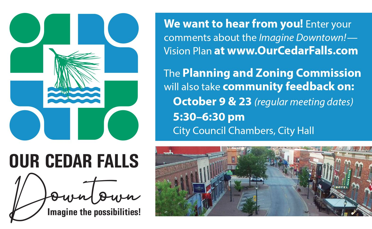 Our Cedar Falls meeting slide Oct 9 and 23 Facebook