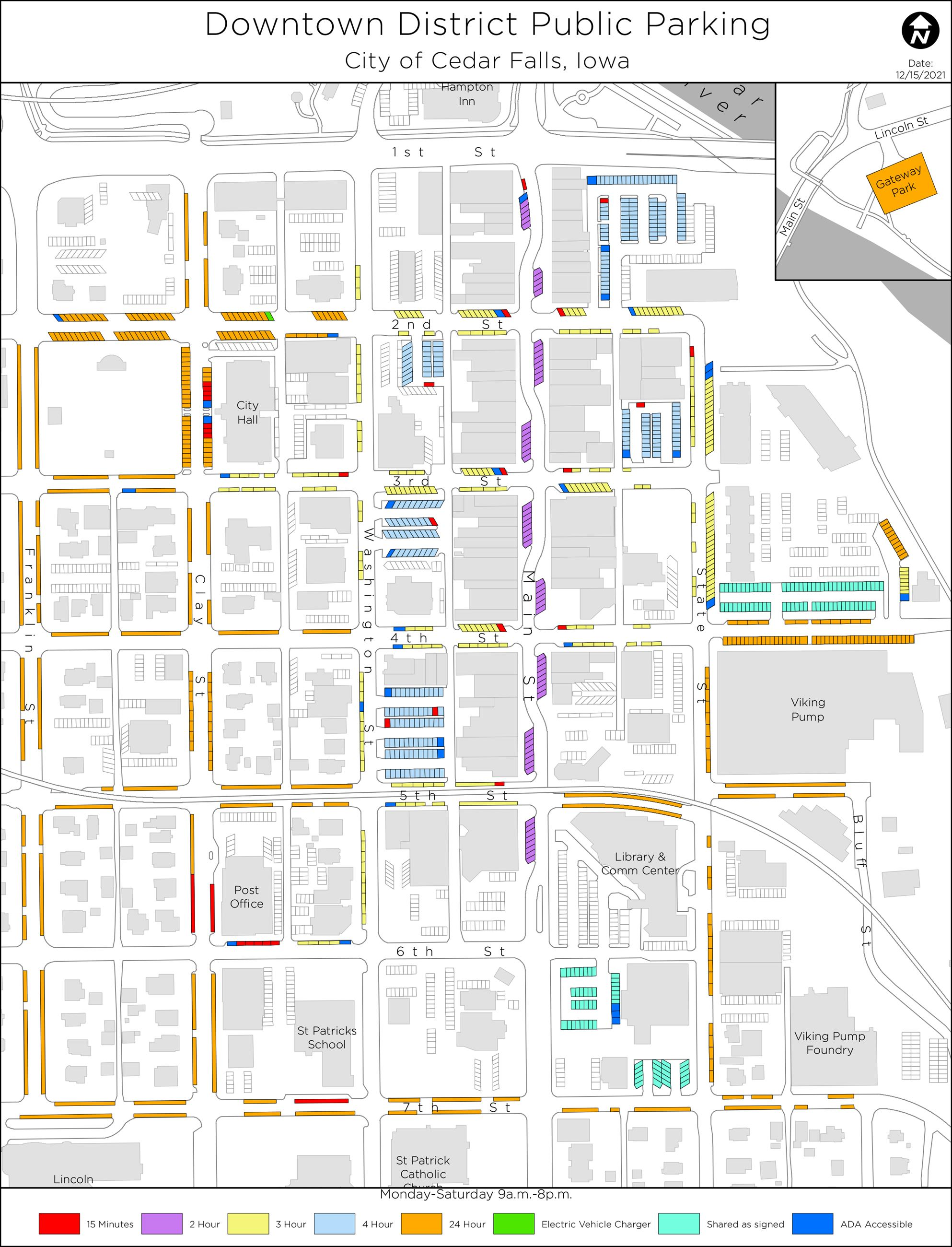 Downtown Parking Map 9-2020